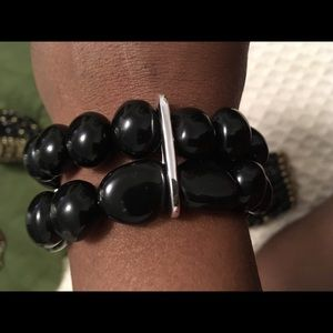 Macy's Black Beads